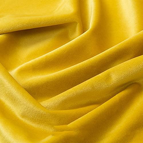 FFJD Telas Costura- Tela De Terciopelo De Estiramiento 18 Colores 59'de Ancho para La Cortina De Tapicería De Ropa De Costura(Color:Amarillo)