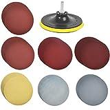 TIMESETL 60 discos de lija Velcro circular para lijadora excéntrica Ø125mm Surtido de discos de lijado de velcro con grano de la almohadilla de pulido # 1000# 1200# 1500# 2000# 3000# 5000# 7000