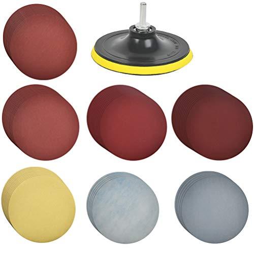 TIMESETL 60 discos de lija Velcro circular para lijadora excéntrica Ø125mm Surtido...