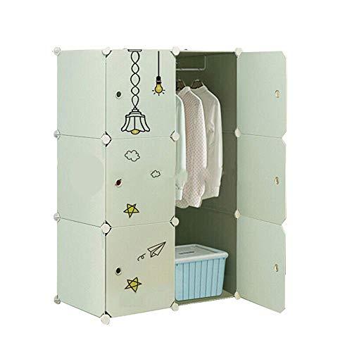 CENPEN Armario portátil verde para niños, diseño creativo, armario, armario, armario, armario, estrella, niños y niñas, para libros, juguetes, toallas (color verde, tamaño: talla única)