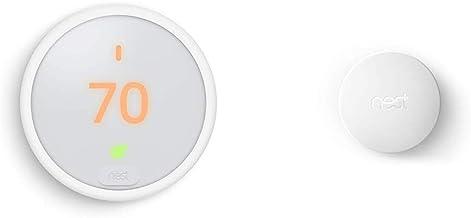 Google Nest Thermostat E, Smart Thermostat, White, and Google Nest Temperature Sensor Bundle