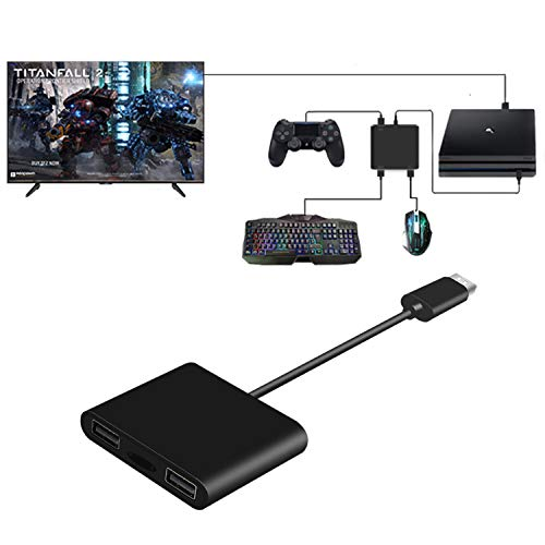 PS4 Keyboard and Mouse Adapter Converter for PS4 Pro/ PS4 Slim/ PS3/ Xbox One/One S/One X/Switch