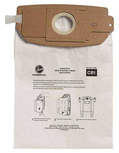 Hoover Commercial AH10173 HushTone Back Pack Bags, Standard Filtration (Pack of 10)