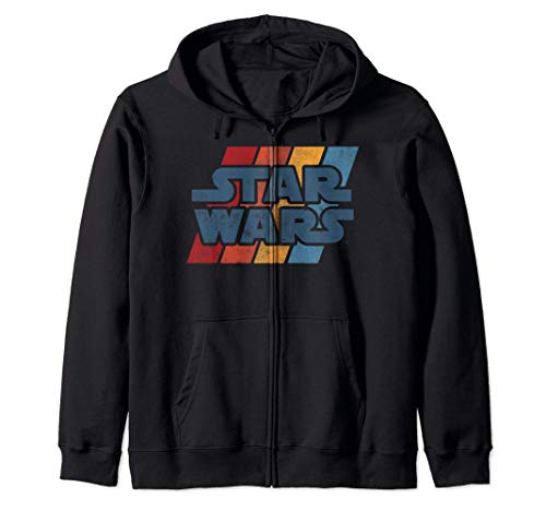 Star Wars Left Chest Rainbow Logo Felpa con Cappuccio