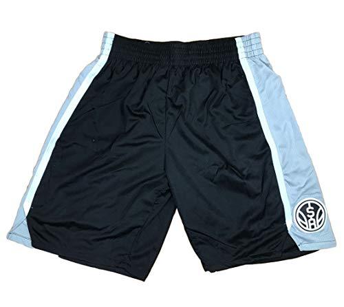 HGTRF Pantaloncini da Corsa da Uomo Traspiranti San Antonio Spurs Pantaloncini da Allenamento da Basket per esterno-black-2XL