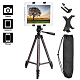 FOSOTO 50 inches Camera Tripod with Tablet Clamp Holder, Phone Holder Compatible