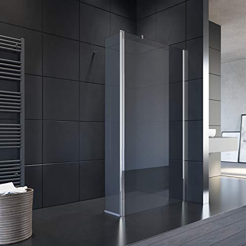 SONNI Duschwand 90x200 cm Walk in Dusche mit 30cm Seitenteil Duschtrennwand 8mm Easy-clean Nano Glas Duschabtrennung