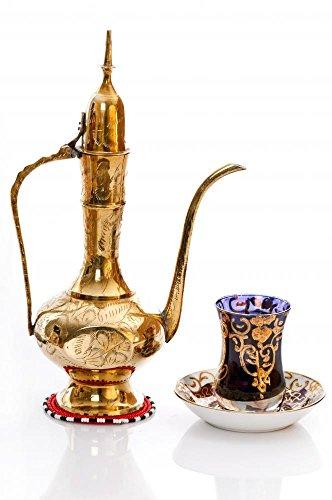 Wallmonkeys WM299896 Kaffeekanne mit Kaffeetasse und Kaffeetasse aus arabischem Messing, 45,7 x 30,5 cm