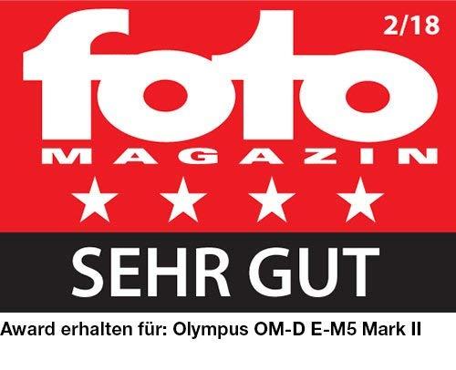 Olympus OM-D E-M5 Mark II Kit, Micro Four Thirds Systemkamera (16,1 Megapixel, 5-Achsen Bildstabilisator, elektronischer Sucher) + M.Zuiko Digital ED 14-42mm F3.5-5.6 EZ Zoomobjektiv, silber