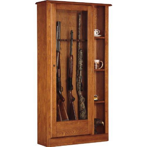 oak gun cabinet - 4