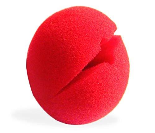 'Lot de 12 Nez clown en mousse synthétique rouge à pincer Très agréable à porter CL-02, ne laisse pas de traces Idéal pour vos fêtes et soirées à thème Clown Convient aussi bien aux adultes qu'' aux enfants.'