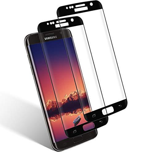 Aspiree Ecran Protection pour Samsung Galaxy S7 Edge,2 Pièces, Verre Trempé Dureté 9H, Anti-Rayure, Sans Bulles D'air, HD 99% Transparent