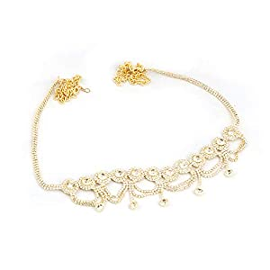 DSD Designer Belly Chain Pearl Silver Plated Wedding Jewellery Kamarband for Women and Girls