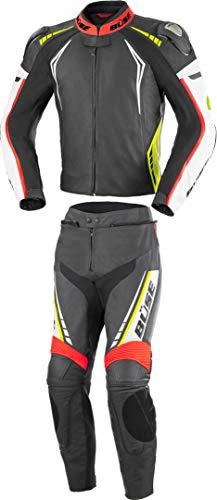 Büse Silverstone Pro 2-Teiler Damen Motorrad Lederkombi Schwarz/Weiß/Rot/Gelb 42