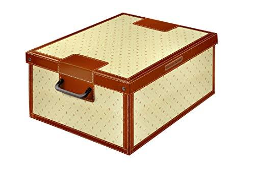 Kanguru Caja de Almacenamiento en cartòn Lavatelli, Modelo Lirio, Grande, 50x40x25cm, 50 x 40 x 25 cm