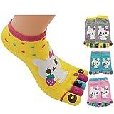 Bonamart 4 Paar Kids Kinder Mädchen Junge 5 Zehen Socken Zehensocken 5-8 Years Old