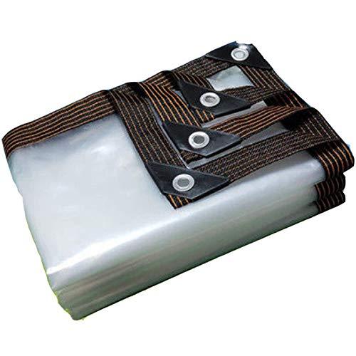 QIAOH Lona Impermeable Exterior Transparente 2x4m, Toldo Lona Impermeable, Toldo De Aislamiento Cubierta De Plástico PE, A Prueba De Polvo, A Prueba De Lluvia Cubierta Impermeable