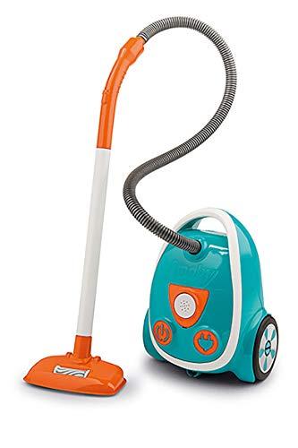 Smoby 330216 - Aspirador electrónico con Ruido de aspiración, Pilas Incluidas, Juguete para niños