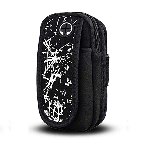 HGJINFANF Exquisita mano de obra antideslizante bolsa de transporte montañismo deporte running fitness unisex teléfono móvil brazo bolsa deporte bolsa bolsa bolsa de teléfono móvil durable (color: C)