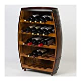 WWZZ Botellero De Vino En Forma De Barril Puede Contener 23 Botellas, Bar Bodega Botella Estante Decoración