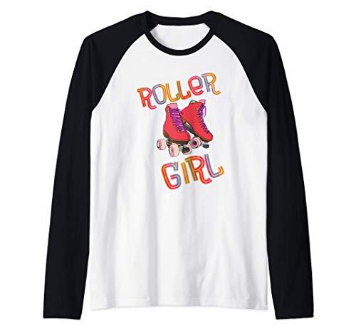 Rollschuh - Roller Girl - mit Rollschuhen laufen - 80er Raglan