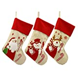 wwttoo 30 Piezas calcetín de Navidad Santa Claus muñeco de Nieve Reno Bolsa de Regalo Calcetines decoración de Navidad Venta al por Mayor Santa muñeco de Nieve Ciervos