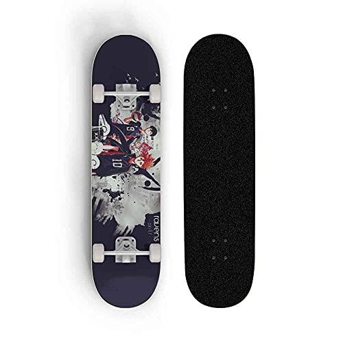 Kssmice Skate Anime Haikyuu !!TOBIO Kageyama, Skateboard Longboards, Patinetas Estándares Profesionales para Principiantes 31 Pulgadas, Maple Concave Cruiser, Kick Scooter, Mejor Cumpleaños/Regalo d