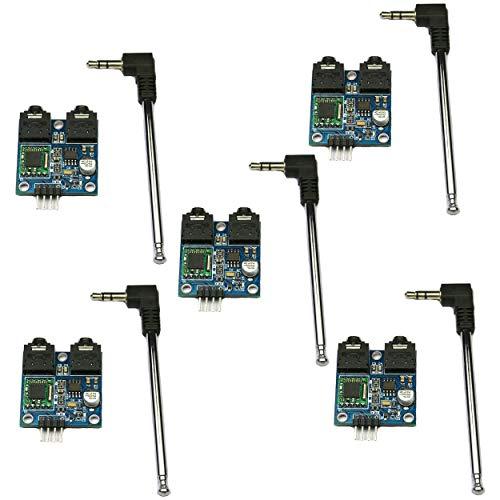 SHAHIDEER TEA5767 FM estéreo módulo de radio con Free Cable Antena para Arduino Raspberry Pi DIY 76-108 MHZ Con Conexión Radio Stereo