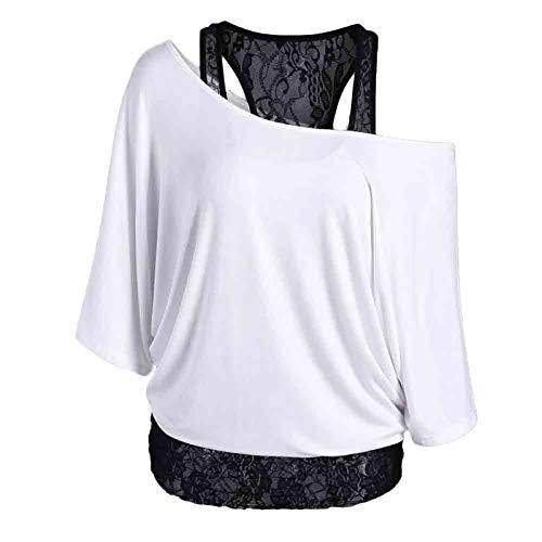 Camisetas de mujer de manga corta sólida encaje hueco sexy casual Tops sueltos