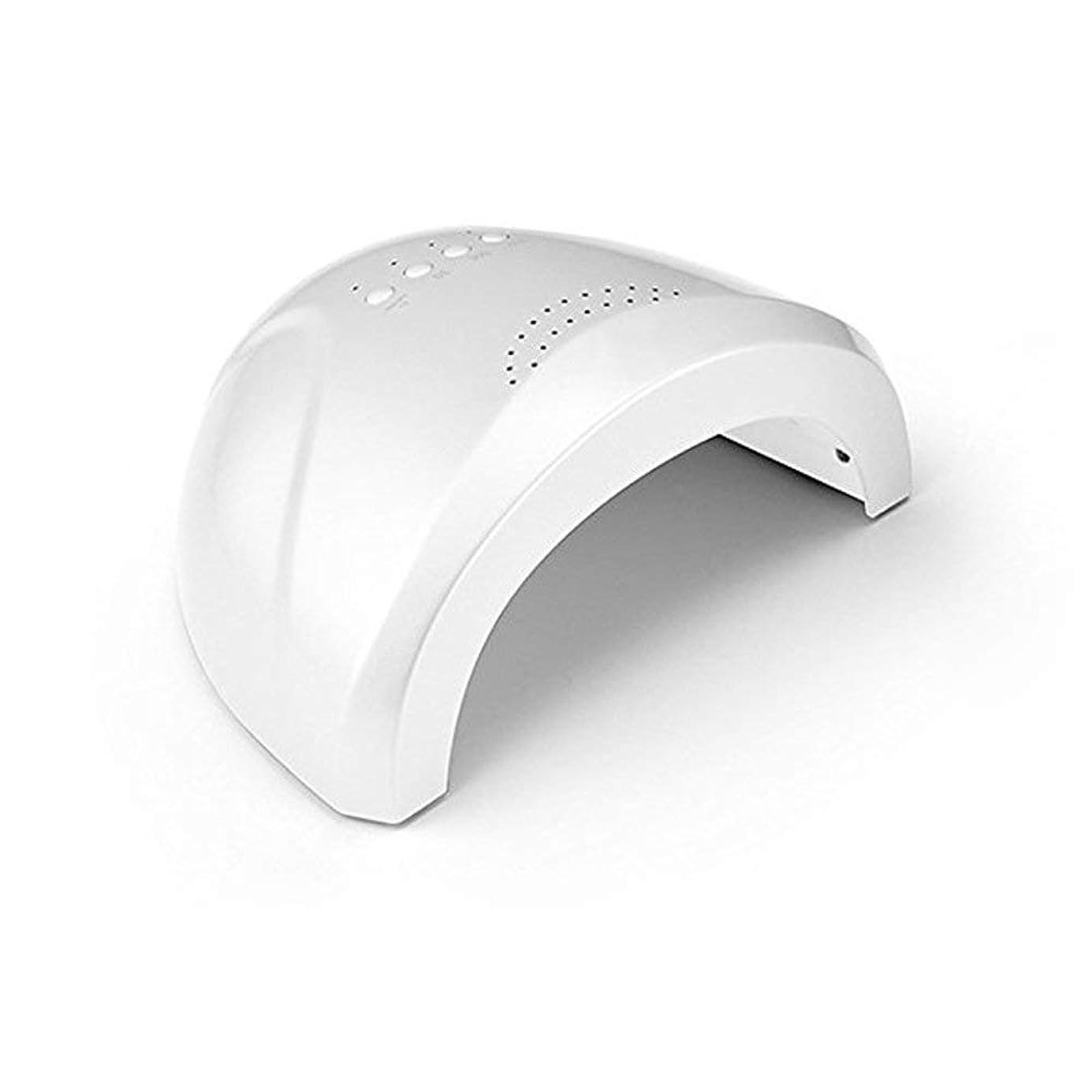 液化する本質的に人柄LED UVネイルドライヤーホワイトライトネイルランプ高速硬化3タイマー設定5 s / 30 s / 60 s爪&足の爪のネイルアートサロンツールの自動センサーマシン