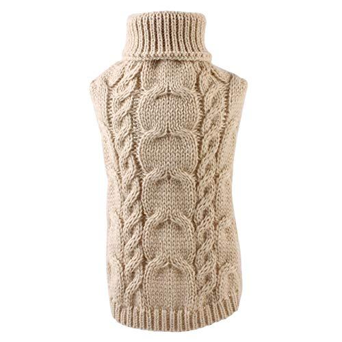 iFCOW Suéter para perro, chaleco para tejer, abrigo para mascotas, suéter para cachorros, ropa de invierno, suave y cálida