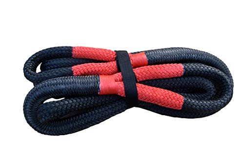 """XIAOFENG-R Towing Cord Schwarz 25mm * 9m Recovery-Seil, 1\"""" Kinetic Seil for Offroad-Teile, Abschleppseil Auto, Geflochtenes Nylon Energie Seil Tow Rope (Color : A)"""