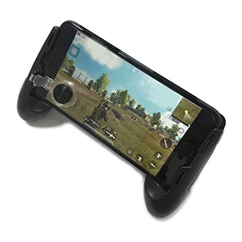 Mobile Joystick Controller Grip Case for Smartphones, Mobile Phone Gaming Grip with Joystick, Controller Holder Ergonomic Design (Black Type 01)