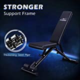 FLYBIRD Weight Bench, Adjustable Strength Training Bench for Full Body Workout with Fast Folding