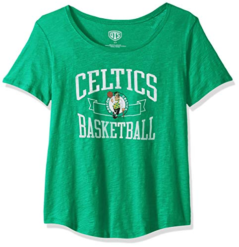 OTS NBA Boston Celtics Women's Slub Boyfriend Tee, Distressed Boyfriend, Large