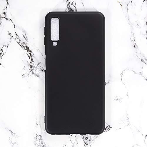 Capa para Samsung Galaxy A7 2018 A750, capa traseira de TPU macia resistente a arranhões, capa protetora de corpo inteiro de borracha de silicone à prova de choque para Samsung Galaxy A7 2018 A750C (preta)