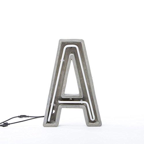 SELETTI - Lámpara de neón de Cemento Alphacrete de 40 - K