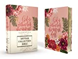 NIV, Artisan Collection Bible, Cloth over Board, Pink Floral, Designed Edges under Gilding, Red Letter, Comfort Print