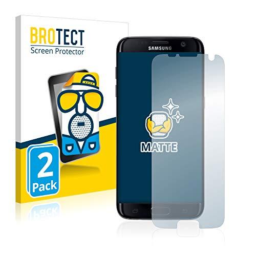 brotect Pellicola Protettiva Opaca Compatibile con Samsung Galaxy S7 Edge Pellicola Protettiva Anti-Riflesso (2 Pezzi)