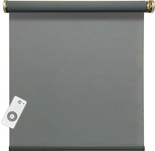 h Estor eléctrico enrollable con motor, color gris, tasa de apertura del 5 %, 900 x 2500 mm, 1 unidad