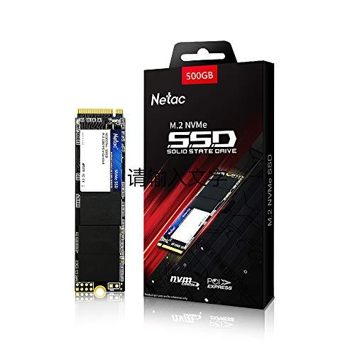Netac 500GB SSD NVMe M.2 2280 PCIe Gen 3x4, unidad de estado sólido interna, lectura de SSD M.2 hasta 1700 MB/s, SSD interno 3D NAND