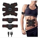 Estimulador Muscular ABS y tóner, los músculos del cinturón Abdominal, el EMS MuscleTrainer Oficina en casa aparatos de Ejercicios for el Abdomen del te/Brazo/Pierna de Entrenamiento M? Hombres o
