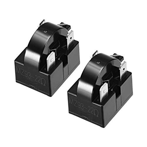 2 piezas 22 ohmios 3 pines refrigeradores PTC arranque relé para compresor, color negro