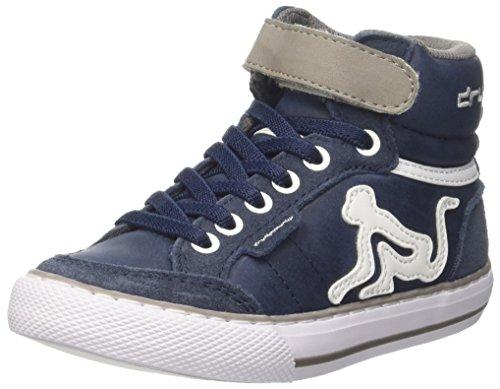 DrunknMunky Boston Classic, Sneaker a Collo Alto Bambino, Blu (Navy Bluegray), 31 EU