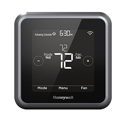 Honeywell Home RCHT8610WF2006/W T5 Round Wi-Fi Thermostat, Black