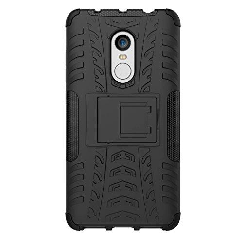 FaLiAng XiaoMi RedMi Note 4 Funda, 2in1 Armadura Combinación A Prueba de Choques Heavy Duty Escudo Cáscara Dura para XiaoMi RedMi Note 4 (Negro)