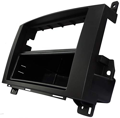 AERZETIX: Adaptateur Façade Cadre Réducteur 1DIN moulage cache en plastique pour remplacer changer monter autoradio d'origine par un radio standard de voiture auto