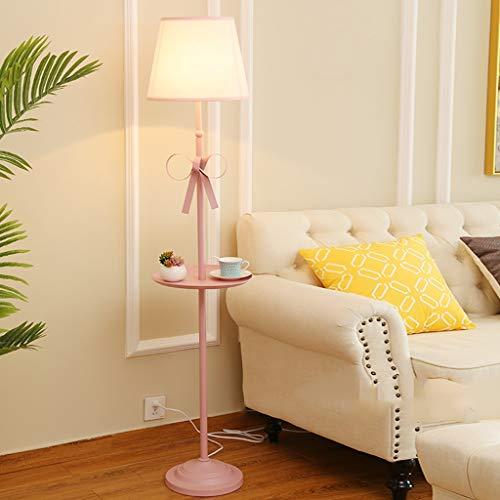 Lámpara de pie rosa 160 cm estilo nórdico princesa de hierro forjado luz de pie arco creativo alta lámpara de mesa, hogar, sala, comedor, habitación infantil, dormitorio, estudio, bar, restaurante