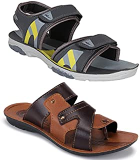 Earton Combo Pack of 2, Men Sandals and floaters
