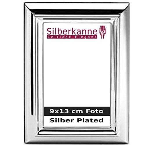 silberkanne Bilderrahmen Mailand für 9x13 cm Fotos Silber Plated versilbert in Premium Verarbeitung